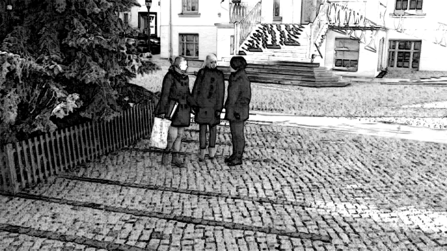 Bildbeispiel: Bildeffekt Grafikeffekt Schwarz - Weiß