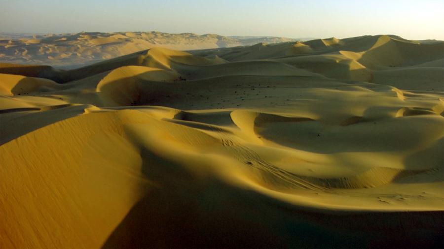 Anantara Wüstenquartier aus der Luft gesehen